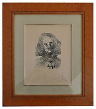Eau forte sur papier japon i portrait de Velasquez numéroté 7 sur 30