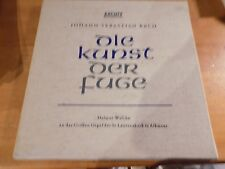 BACH Die Kunst der Fuge WALCHA 2LP BOX ARCHIV  w/Booklet Rare EX/VG+