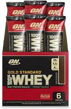 Optimum Nutrition Gold Standard 100% Whey Protein Powder Drink Pack of 6 FS