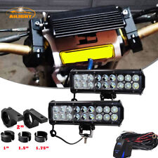 2x 9inch Led Light Bar w/ Clamp Cage Mount Bracket Kit For Honda TRX 450r LTR450