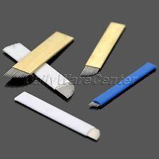 40Pcs 7/12/14/17pin Microblading Needles Blades Permanent Makeup Tattoo Tool Set