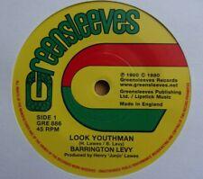 "BARRINGTON LEVY  Look Youthman / Youthman Dub 7"" Vinyl Greensleeves ROOTS REGGAE"