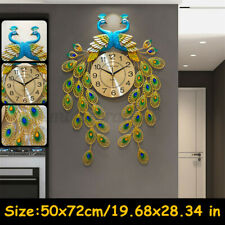 Modern Large Peacock Clock Quartz Clock Living Room Mute Wall Clock Decor Gift
