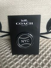 Coach New York Baseball Pin Customizable For Bag / Clothing f21655 Charity