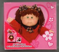 32 Cabbage Patch Kids Valentines Day Cards + Stickers + Box with Handle Mailbox