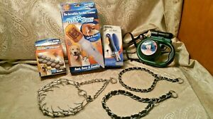 lot of 7 PediPaws trimmer,EZ-nail ,bag holder,3 chain dog collars,for Dogs Pets