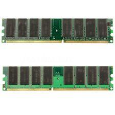 2GB 2x1gb DDR-266 PC-2100 Non-ECC DIMM 184-Pins Desktop Memory RAM Chipset New