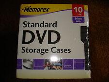 MEMOREX DVD STANDARD STORAGE CASES 10 PK BLACK