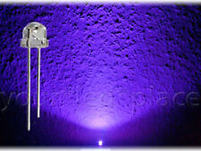 100 x LED 5mm straw hat UV Ultraviolett 90-120° Kurzkopf Flachkopf purple