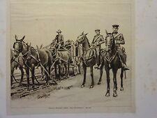 """Great B/W Print-"""".Campaign Uniform.""""1841-1851&# 034; by William Walton, 1890 by G.B."""