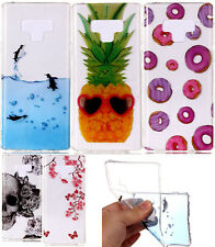 For Samsung Galaxy Note 9 - Hard TPU Rubber Gummy Clear Design Phone Case Cover