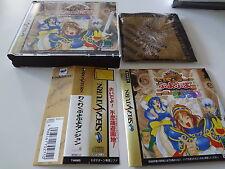 Wakuwaku Puyopuyo Dungeon + Bandana w/spine Sega Saturn Japan