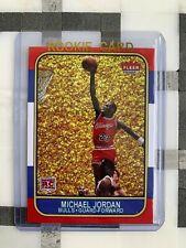 MICHAEL JORDAN 1986 Rookie #57 GOLD Edition 35th Anniversary ACEO Custom Card