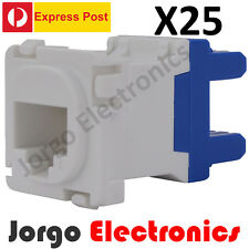 25 CLIPSAL COMPATIBLE CAT6 RJ45 Data Inserts Jacks X25 -EXPRESS POST-