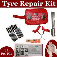 Emergency Car Van Motorcycle Tubeless Tyre Puncture Repair Kit 31 Pieces