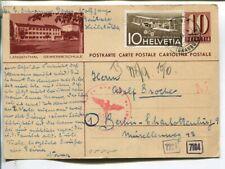 Switzerland uprated censor illustrated postal card to Germany 1944