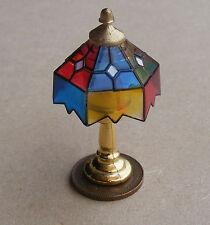 1:12 Scale non trabajo lámpara de mesa matizas coloreadas luz muñeca casa miniatura 192t