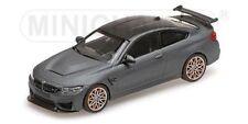 MINICHAMPS - 410 025220, BMW M4 GTS, MATT GREY WITH ORANGE WHEELS, 1:43 SCALE