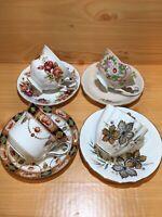 England Bone China Tea Cups And Saucers,Set Of 4