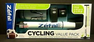 Bicycle Zefal Cycling Value Pack Air Pump, Water bottle, Reflective Lights