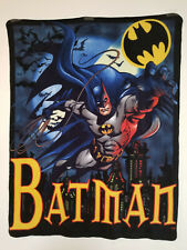 "Batman: Soft Fleece Throw / Blanket - 47"" x 59"" - Handmade and Unique"
