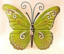 Butterfly Hand Painted Metal Wall Art Yard & Garden Home Decor (I)