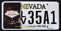 "NEVADA ""  LAS VEGAS CENTENNIAL - 100 YEARS "" MINT  NV Specialty License Plate"