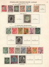 NYASALAND: 1903-1935 Examples - Ex-Old Time Collection - 2 Sides Page (33170)