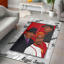 TOP HIPHOP RAPPER 2pac Biggie Eazy Legends Rug Living Room, USA Home Decor Gift