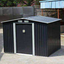 6´x8´x6 ´ft Outdoor Utility Galvanized Steel Storage Shed Kit Garden Tool House