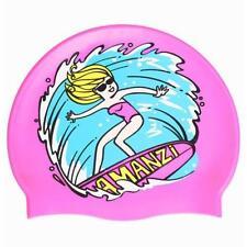 Bonnet de bain de natation et d'aquagym roses