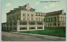 Wildwood NJ~Hotel Manor Features Colonnade Under Porch & Pergolas~Dirt Rd~c1910