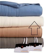 Biddeford Comfort Knit Fleece Heated Queen Blanket Natural $200