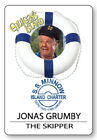 THE SKIPPER GILLIGANS ISLAND SS MINNOW NAME BADGE HALLOWEEN COSPLAY MAGNET BACK
