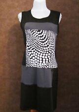 Robe GEMO T40 - Robe droite noire et blanche à empiècements (1805006)