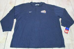 VTG 1999 NWT Reebok Super Bowl XXXIII Broncos Blue Collared Long Sleeve Polo 3XL