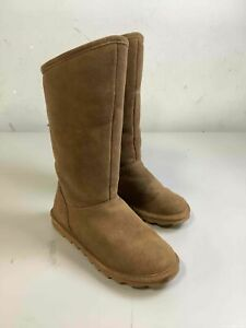 Women's Bearpaw Brown Leather Boots Size 9