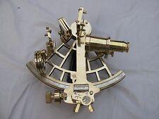 """Pesado de latón sextante náutico hecha a mano 9"""" de trabajo marítimo enviar artículo instrumento."""