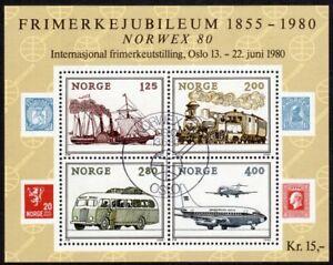 Norway Scott # 765 VF Used 1980 NORWEX 80 Souvenir Sheet