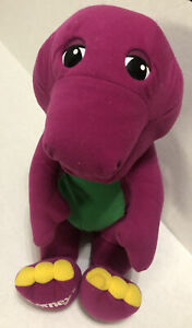 "Playskool Talking Barney Dinosaur 17"" Plush Toy Vintage 1992 Lyons Group 71245"