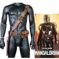 The Mandalorian Belt Leather Cosplay Costume Prop Leg Pack Gun Package Mens