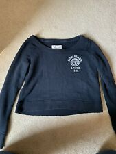 abercrombie and fitch Cropped Navy Sweatshirt XS