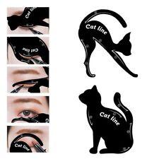 2 in 1 Cat Eyeliner Stencil,Matte PVC Material Smoky Eyeshadow Applicators