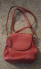 CLEAN Vintage COACH Red REGINA CROSS BODY SHOULDER BAG HANDBAG PURSE