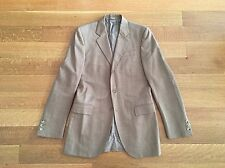 BURBERRY AW15 Tan 100% Wool 3 Button Suit Jacket 38 R Pants 32 x 32 $1995 Italy
