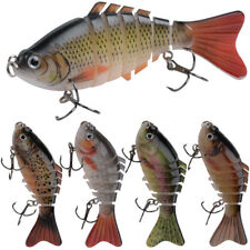 5Pcs Bass Trout Fishing Lure Multi Jointed Artificial Swimbait With Treble Hook