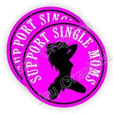(2) Support Single Moms Hard Hat Stickers Sexy Welding Helmet Decals Motorcycle