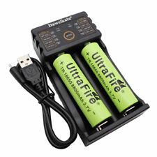 Batería 2PCS 18650 8800mAh baja de drenaje Li-ion recargable Cargador USB Y Lámpara de Reino Unido