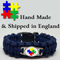 Autism Awareness Paracord Bracelet Wristband 10% Goes to Charity