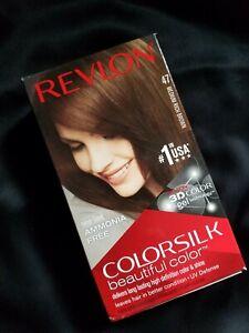 Revlon ColorSilk Beautiful Hair Color Permanent #47 MEDIUM RICH BROWN